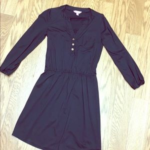 Lilly Pulitzer black long sleeve cotton dress xs